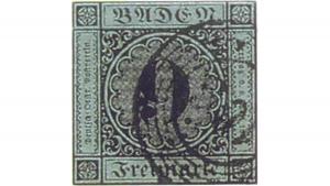 Baden 9 Kreuzer, 1 млн. Евро, пощенска марка, най-скъпи марки