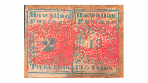 пощенска марка, хавайските мисионери, Hawaiian Missionaries, €39,000