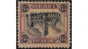 обърнатото кметство, пощенска марка, Inverted Dendermonde, €75,000