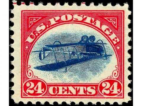 обърната джени, пощенска марка