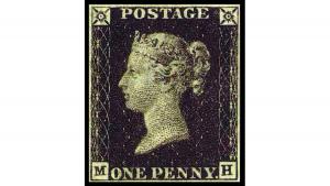 Черното пени, пощенска марка, Penny Black, € 3,000
