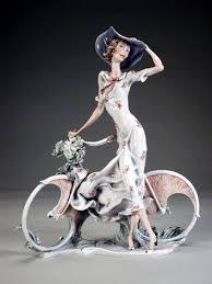 Дама с колело, Джузепе Армани, статуетки, скулптура, колекционерство