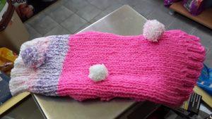 плетен елек за домашен любимец куче